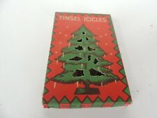 9 antique Christmas Tree Tinsel Icicles ornaments w/box 4 x 2.75 Graphics lead