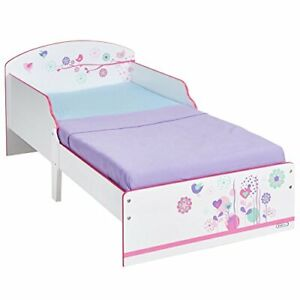 Flowers and Birds Kids Toddler Bed by HelloHome