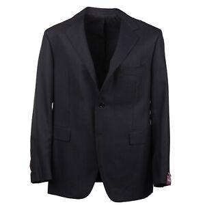 Sartoria Partenopea Subtle Woven Black Wool Blazer 44R Sport Coat