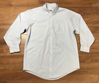Brooks Brothers Mens Long Sleeve Button Down Shirt Blue 16 32 Adult Size XL