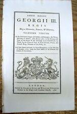 1782 KING GEORGE III Proclamation regarding ships during the REVOLUTIONARY WAR