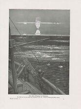 Fata Morgana en el mar polar velero presión de 1912 luftspiegelung