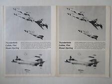 4/73 COUPURE DE PRESSE MCDONNELL PHANTOM F-4E USAF THUNDERBIRDS PILOT EJECTION
