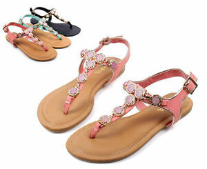 Melon Color Casual T-Strap Slingbacks Gladiator Womens Sandals Shoes Size 6.5
