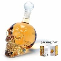 Creative Crystal Skull Head Whiskey Vodka Wine Decanter Bottle Glass Beer Spirit