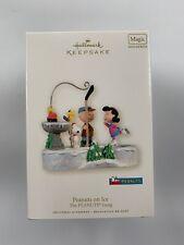 2008 Hallmark Peanuts on Ice Snoopy Woodstock Charlie Brown Christmas Music