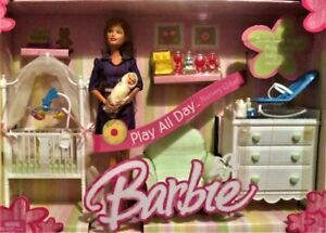 Barbie Play All Day Nursery Giftset with Midge and Baby