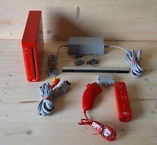 Wii - Nintendo Wii Konsole Rot mit Original Remote Controller (guter Zustand)