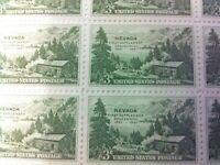 United States SC# 999 Nevada First Settlement Centennial Sheet  of 50 MNH 1951