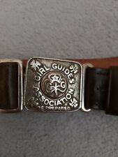 More details for uk girl guide leader 1950's leather belt