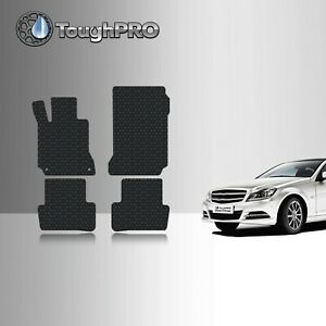 ToughPRO Floor Mats Black For Mercedes-Benz C Class Sedan All Weather 2008-2014
