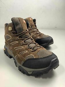 Men's Merrell Vibram Brown Leather Boots Size 11.5