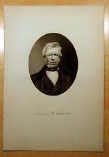 Antique Print 1883 FRANCIS K. WILLIAMS Taunton,MA Massachusetts STEEL ENGRAVING