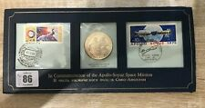 ~Simply Coins~ 1975 SILVER PROOF APOLLO - SOYUZ SPACE MISSION FDC COVER 99 PENCE