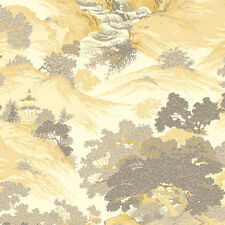 Archives Oriental Landscape Wallpaper Yellow - Crown M1192 China