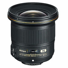 Nikon AF-S 20mm f/1.8G ED N Lens w/FREE Hoya NXT UV Filter *NEW*