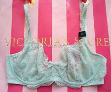 NWT Victoria's Secret Dream Angels Unlined Demi Sheer Lace Bra Green Bling 32D
