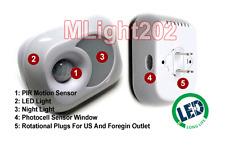 2-In-1 Smart Motion LED Night Light For 110V -240V AC Plug Rotating Base
