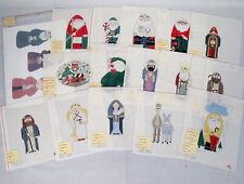 Lot 16 Handpainted Christmas Needlepoint Canvas Ks Pat Thode Sandy Jenkins New