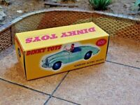 DINKY NO.101 SUNBEAM ALPINE SPORTS CUSTOMISED DISPLAY/STORAGE BOX ONLY