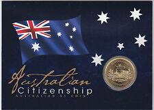 2012 Australian Citizenship Uncirculated $1 Perth Mint Coin on Card