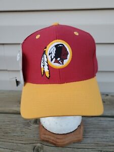NEW Vintage 90s Washington Redskins Plain Logo Game Day Logo 7 Hat NFL9