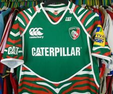 LEICESTER TIGERS 2012 HOME CANTERBURY RUGBY SHIRT JERSEY TOP LARGE ADULT