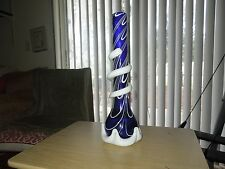 "Glass Water Tobacco Smoking Big 18"" Blue and White  Free Shipping"
