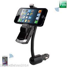 Car Bluetooth Handsfree FM Transmitter USB Charger MP3 Player Phone Mount Holder