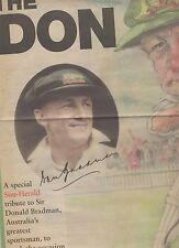 "DON BRADMAN SUN HERALD NEWSPAPER LIFT-OUT ""THE DON"""