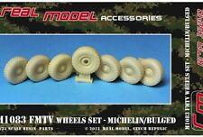 1/35th Real Model US M1083 FMTV wheel set bulged Michelin