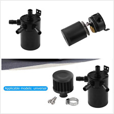 Universal Racing Baffled 3-Port Oil Catch Can/Tank/Air-Oil Separator w/ Filter