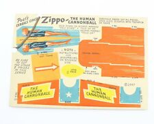 Post Cereal Circus Zippo The Human Cannonball Vintage Cereal Premium
