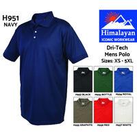 Himalayan Dri-Tech Polo Shirt Mens Triple Stitched Polyester Work T-Shirt