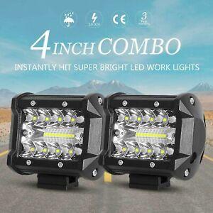 480W 4Inch LED Combo Work Light Spotlight Off-road Driving Fog Lamp Truck Boat