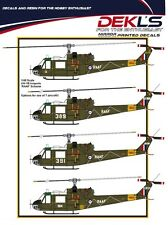 1/48 RAAF DECALS; UH-1B Iroquois 1960/70s with white RAAF titles