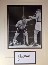 Jake la motta-american boxing legend-excellent signed b/with photo frame