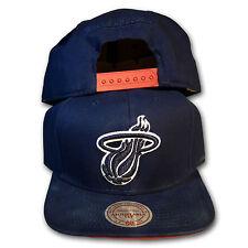 Original Mitchell & Ness Miami Heat Snapback Cap NBA Navy Can