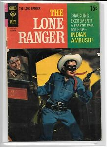 LONE RANGER #15 --- INDIAN AMBUSH! Gold Key! 1969! G/VG