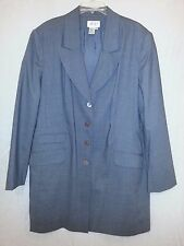 Apart Impressions Women's Gray Wool Blend Lined Long Jacket Coat Size 20 EUC