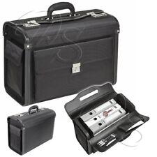 Pilotenkoffer Aktenkoffer Aktentasche Konferenztasche Businesstasche Schwarz Bag
