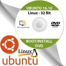 Ubuntu Linux 16.10 instalación del sistema operativo de 32 bits En Vivo Dvd De Arranque