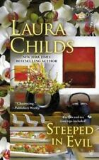 Steeped in Evil- Laura Childs-2015 Tea Shop Mystery #15-combined shipping
