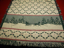 Winter/Holiday Knit Throw Blanket