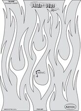 Iwata-Medea Fraser's Flame-O-Rama Series Airbrush Paint Stencil Template - Slash