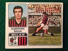 CALCIATORI 1972-73 1973 n 213 MILAN BIGON , Figurina Sticker Panini NEW