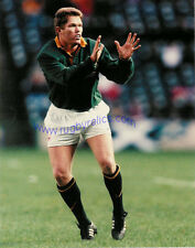 "JANNIE DE BEER SOUTH AFRICA COLOUR RUGBY ORIGINAL PHOTOGRAPH 10"" x 8"""