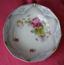 ANTIQ. VICTORIAN MADE IN GERMANY LUSTER BOWL WITH ROSES
