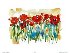 Field of Poppies Art Poster Print by Alfred Gockel, 16x12