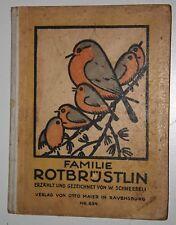 W. Schneebeli: Familie Rotbrüstlin. 1926. Illustriert.